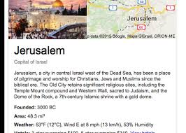 why does google say jerusalem is the capital of israel