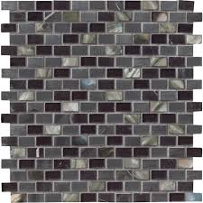 black mosaic tile tile the home depot