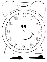 clock coloring page eson me