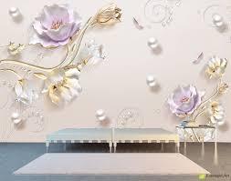wall murals digital wallpaper graphics light background with wall murals digital wallpaper graphics light background with pearls and flowers