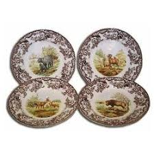 spode woodland american wildlife china dinnerware schwartz co