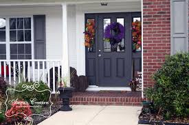 Decorated Homes For Halloween Fall Arrangements Bouquets And Florists On Pinterest Halloween