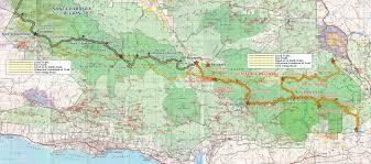 Santa Barbara Map Plotting A 300 Mile Trail Through Our Backyard