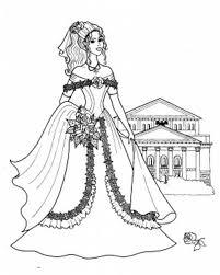 princesses standing front castle coloring pages batch