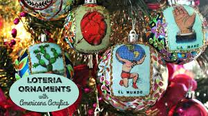 how to sugar skull and loteria ornaments