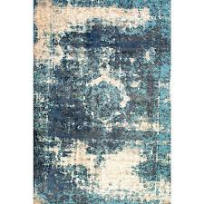 Rugs In Home Depot Nuloom Vintage Lindsy Blue 9 Ft 11 In X 14 Ft Area Rug Owtc01a