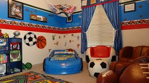 Interesting Boys Bedroom Decorating Ideas Sports Throughout - Kids sports room decor