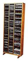 Oak Cd Storage Cabinet Media Storage Cabinet Wood Video Multimedia Dvd Cd Organizer Rack
