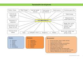 sustainable development worksheet free esl printable worksheets