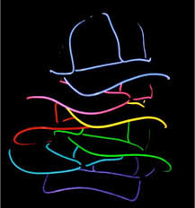 light up el wire hat twisted glow