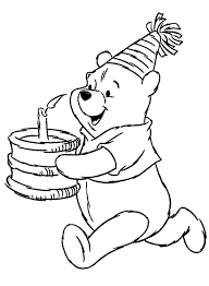 birthday boy coloring pages winnie the pooh birthday coloring page winnie the pooh coloring