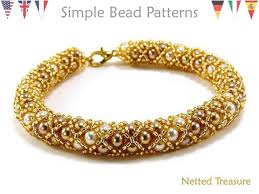 bracelet gold patterns images Beading tutorials and patterns easy jewelry making etsy jpg