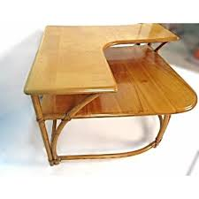 heywood wakefield bamboo maple corner table aptdeco heywood wakefield bamboo maple corner table 1