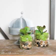 10 minute decorating faux succulent mason jar planters making