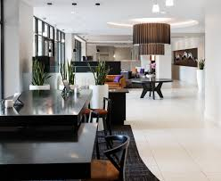 kent place luxury apartments with statement lighting white tile