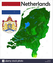 netherlands map flag netherlands map flag coat stock vector illustration vector