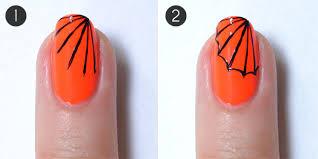 creepy cobweb halloween nails more com