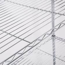 5 Tier Wire Shelving by Adjustable 5 Tier Wire Shelving Rack Heavy Duty Chrome Steel Shelf