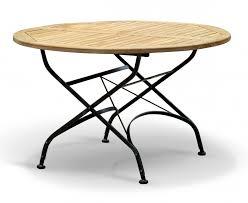 metal folding table outdoor bistro round 1 2m table 4 chairs teak metal folding dining set
