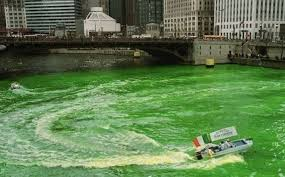 what do they use to dye the chicago river green for st patrick u0027s