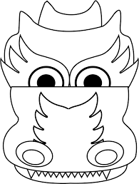chinese dragon head coloring page eson me