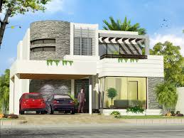 xterior modern brick paint house design with yard plan ed wall