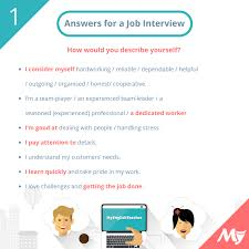 M Me In English - questions and answers to prepare you for a job interview in english
