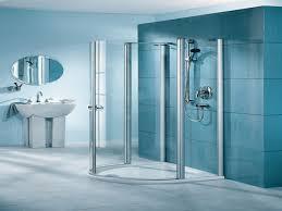 glass bathroom design for modern decoration aida homes cool blue modern bathroom with glass shower box design ideas five