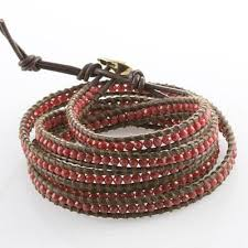 beaded bracelet leather images How to create a beaded leather wrap bracelet jpg