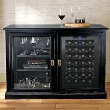 wood storage cabinet triesta medium brown and bronze wine cart