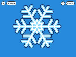 make your own snowflake on hopscotch youtube