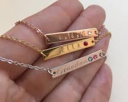 custom birthstone bracelets sted bar etsy