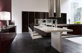 modern kitchen island with seating kitchen kitchen remodel with black wooden cabinet and rack also