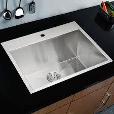 Ruvati Tirana  X  Dropin Single Bowl Kitchen Sink  Reviews - Drop in single bowl kitchen sinks
