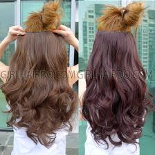 from dark brown to light brown hair fk05 hair extensions non shiny heat resistant one big piece black