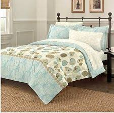 Fish Themed Comforters Blue White Nautical Coastal Ocean Star Shells 7 Piece Comforter