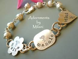 Mom Necklaces With Children S Names Grandma Bracelet Childrens Names Mom Jewelry Personalized Sterling