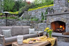 Outdoor Fieldstone Fireplace - 100 fireplace design ideas for a warm home during winter