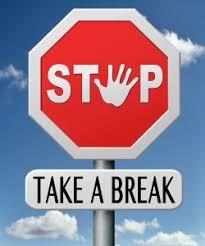 on break sign for desk team yes info smore newsletters for business