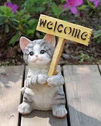 agirlgle garden statue cat outdoor