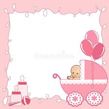 baby shower cards baby shower card stock vector illustration of announcement