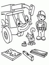 free bob builder coloring pages coloring