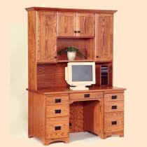 Flat Top Desk Amish Desks With Hutch Amish Furniture