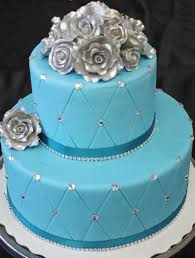turquoise and silver wedding cakes turquoise silver roses