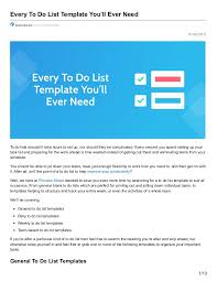 every to do list template you u0027ll ever need