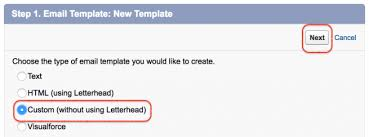 creating new salesforce email templates salesforce tutorial