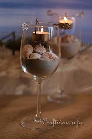 Seashell Centerpiece Ideas by Diy Beach Wine Glass Candle Holders Please Help Me Increase This