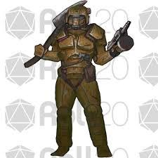 Radioactive Halloween Costume Radioactive Wasteland Mercenaries Roll20 Marketplace Digital