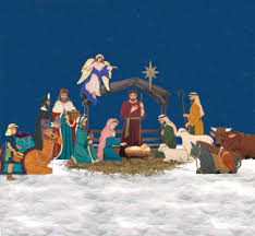 Outdoor Wood Christmas Decoration Patterns complete life size nativity pattern set from woodcraftsandpatterns