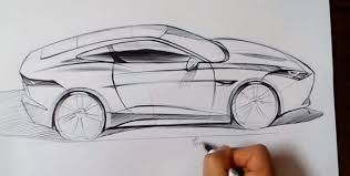 cars drawings how to draw the jaguar f type coupe autoevolution